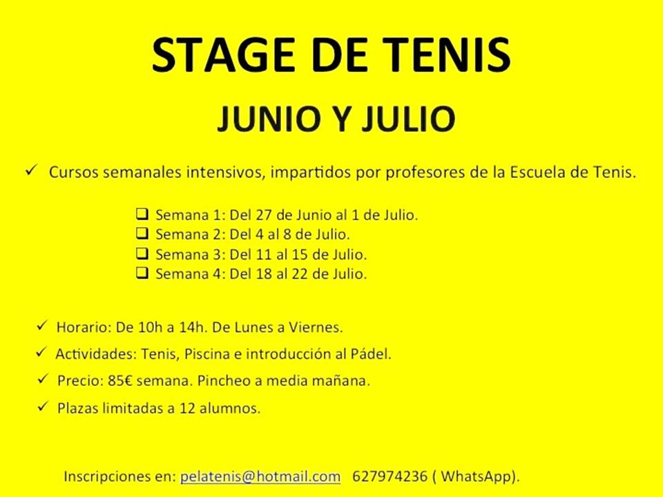 STAGE TENIS